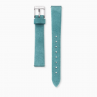 Watch strap nubuck leather turquoise