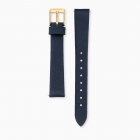 Watch strap nubuck leather night blue