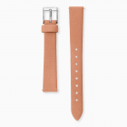 Watch strap nubuck leather coral
